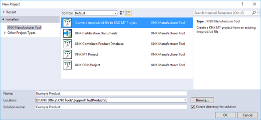 Converting vdx databases to knxprod – KNX Association