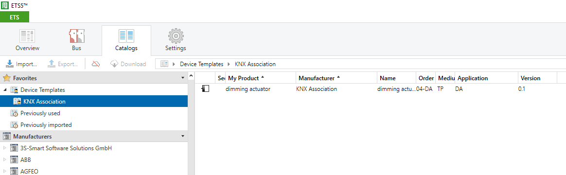 Device Templates – KNX Association